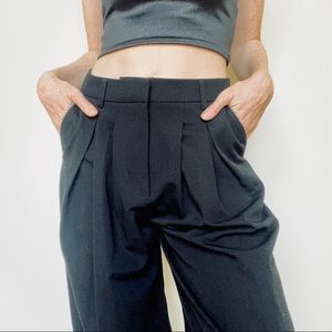 NAKD Black Pleated Front Tapered Pants